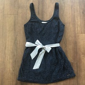 Abercrombie & Fitch navy lace dress bow M